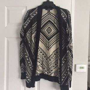 Light weight printed cardigan. Size small.